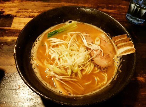 「秋刀魚拉麺 790円」@拉麺 阿吽の写真