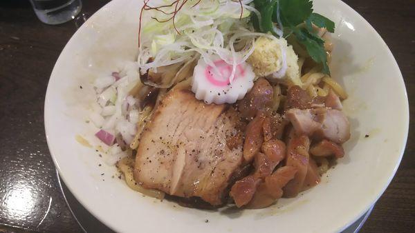 「生姜の油そば 大盛り」@立ち呑み居酒屋 金町製麺の写真