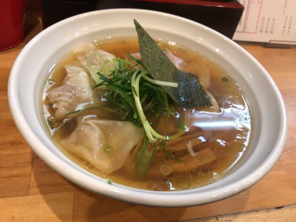 「醤油雲吞」@大阪 麺哲の写真