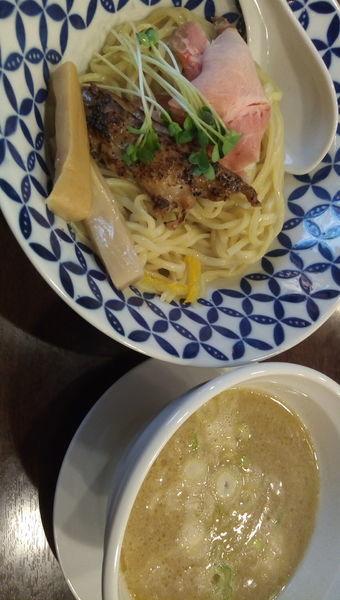 「濃厚鶏白湯つけめん 塩」@麺場ニ寅 川越店の写真