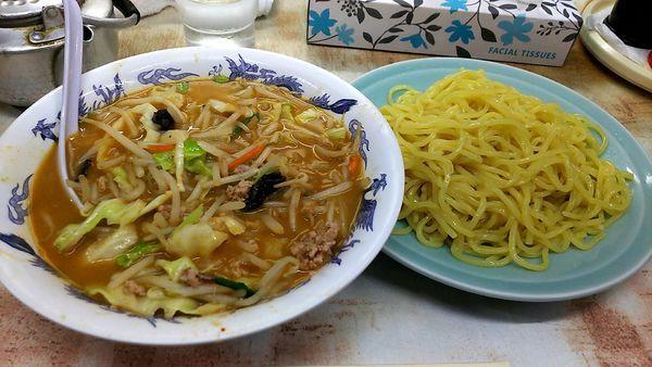 「味噌つけ麺/680円」@弥生亭の写真
