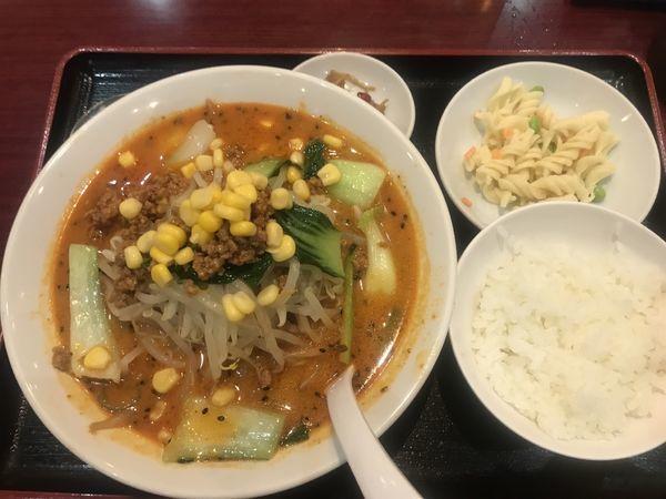 「担々刀削麺セット」@順原閣の写真