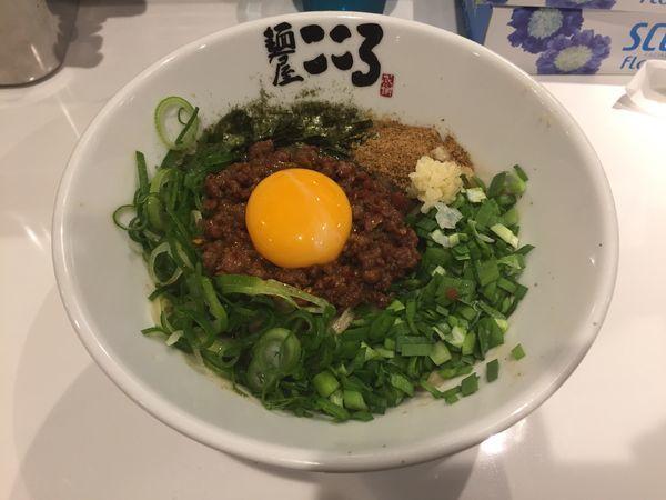 「台湾まぜそば(ニンニク少なめ)」@麺屋こころ 船橋店の写真