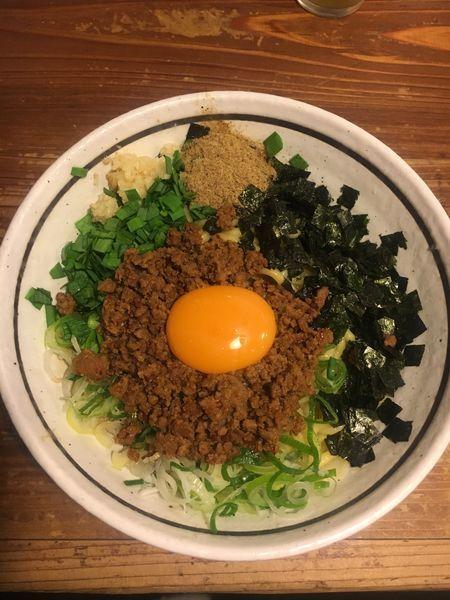 「まぜそば   ニンニク  ニラ 追い飯」@麺 酒 やまのの写真