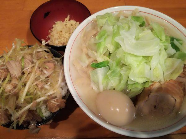 「【限定A】しおラーメン+生姜+ネギ飯」@ファットンの写真
