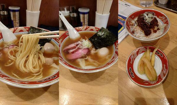 「『特製支那ソバ+ランチ ジャンロウ飯(¥1000+200)』」@支那ソバ 玉龍の写真