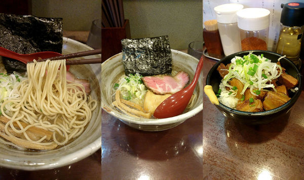 「『煮干しそば 塩+豚めし(¥780+250)』」@麺屋 照の坊の写真