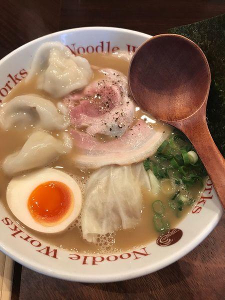 「ラーメン+水餃子」@Noodle Works -BALI-の写真