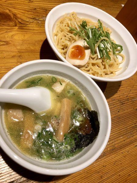 「【季節限定】鶏塩かつおつけ麺 ¥950」@元家うめのや 坂戸店の写真