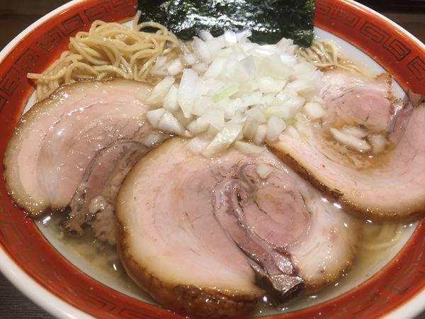 「背脂煮干拉麺+チャーシュー(950円)」@拉麺5510の写真