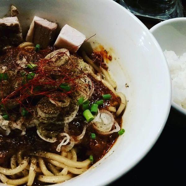 「麻婆まぜそば+プチライス900円☆」@らぁ麺 やまぐち 辣式の写真