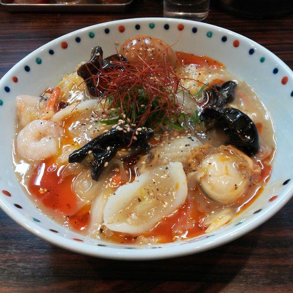 「【限定】海鮮あんかけWING 麺 2018」@らー麺 あけどやの写真