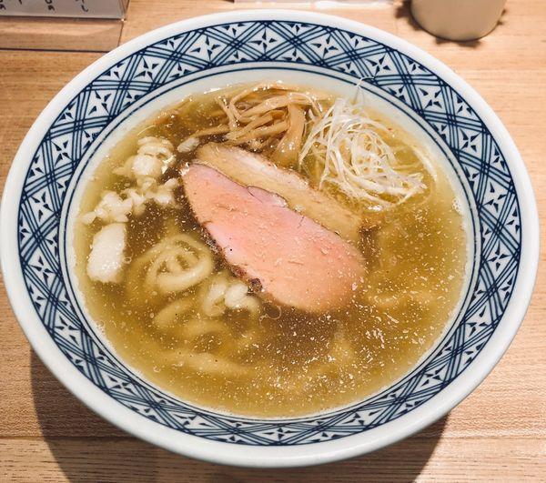 「塩煮干し(小・腹脂¥650)」@超多加水自家製手揉麺 きたかた食堂の写真