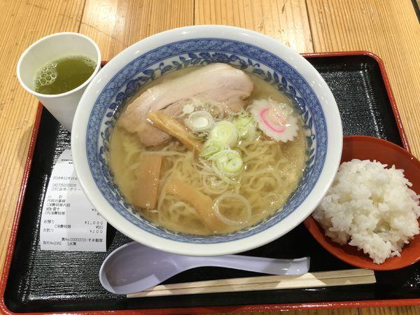「山塩ラーメン(¥800)」@日本橋ふくしま館 MIDETTE ミデッテの写真