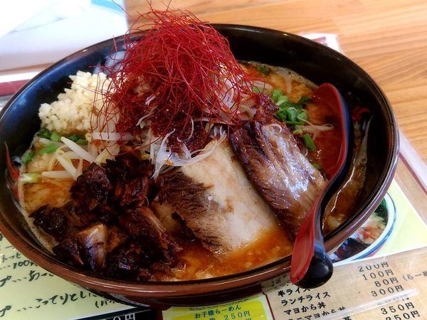 「辛二郎(並盛・200g・さらり)900円」@中華麺酒家 からっ風の写真
