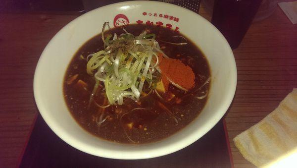 「辛とろ麻婆麺、大盛、辛さ3」@辛っとろ麻婆麺 あかずきんの写真