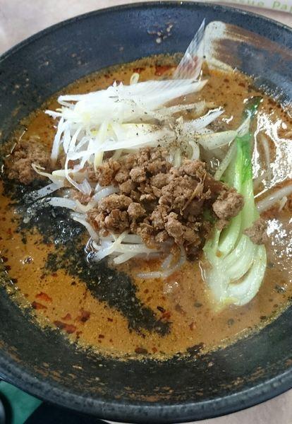 「四川黒芝麻担々麺(セットミニ麻婆丼)」@湯麺 破天荒の写真