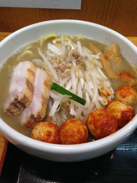 「味噌ラーメン800円 チンピラ玉子150円」@味噌麺処 花道の写真