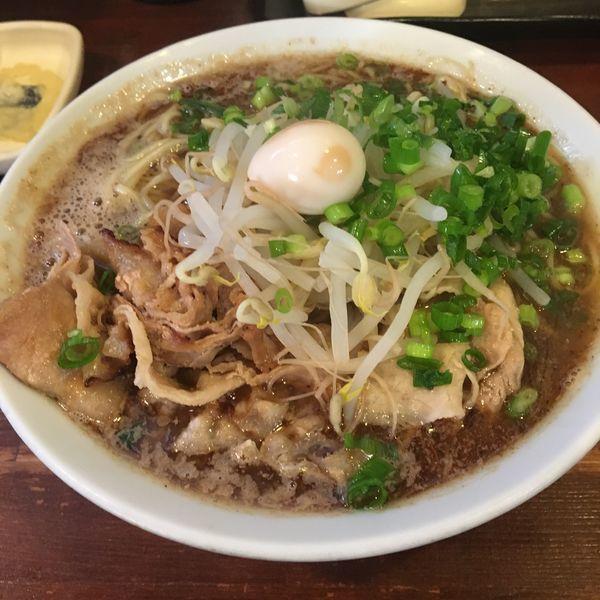「さんま醤油 麺ダブル 替え玉」@らーめん ふじもとの写真