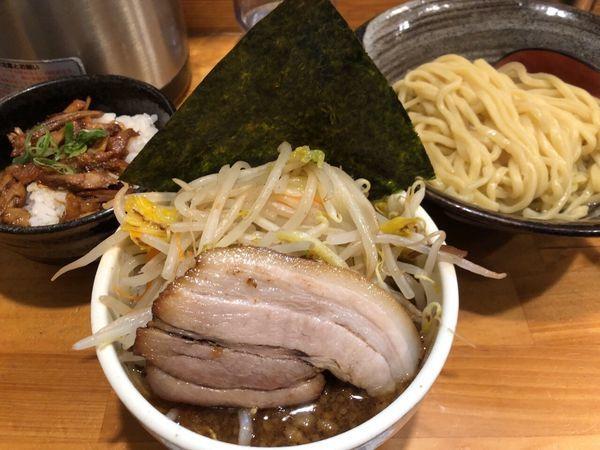 「つけ麺+豚ごはん」@麺屋くぼたの写真