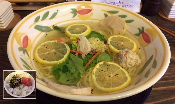 「レモン塩ラーメン & 高菜めんたい丼」@ラーメンダイニング 耀の写真