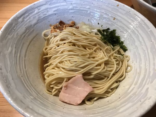 「煮干らぁ麺800円+味付き替え玉200円」@麺屋 さくら井の写真