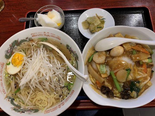 「塩ラーメン+中華丼(ランチCセット)」@中華家庭料理 新元素の写真