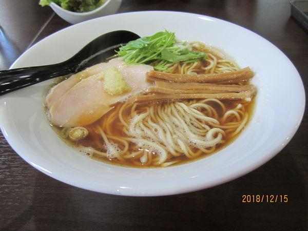 「中華そば750円」@中華そば&親子丼 けのひの写真
