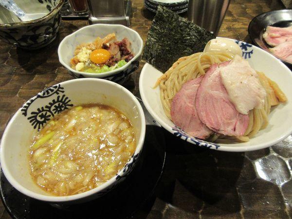 「海老つけそば大盛(930円)+特級TP+EBIライス」@特級鶏蕎麦 龍介の写真