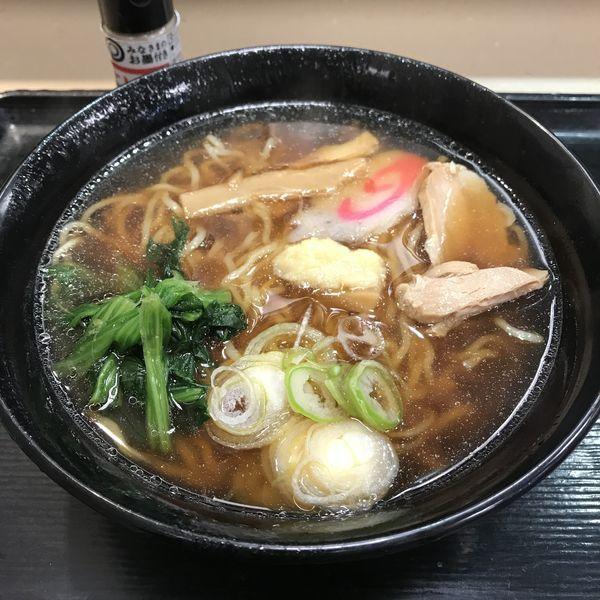 「【店舗限定】生姜醤油ラーメン(¥450)」@名代 富士そば 大森店の写真