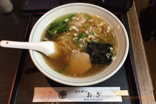「ラーメン  感謝day 450円(通常価格500円)」@とんかつ おぎの写真