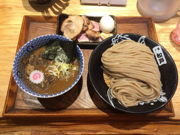 「つけ麺(並)900円+特選全部トッピング750円」@中華蕎麦 とみ田の写真