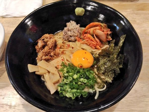 「さば背あぶらしぼり混ぜそば」@福島壱麺の写真