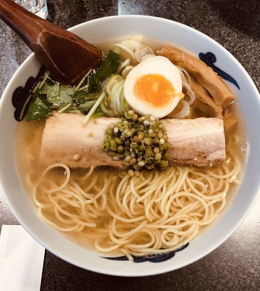 「和風実山椒柳麺 ¥750」@麺屋ひょっとこ 銀座店の写真