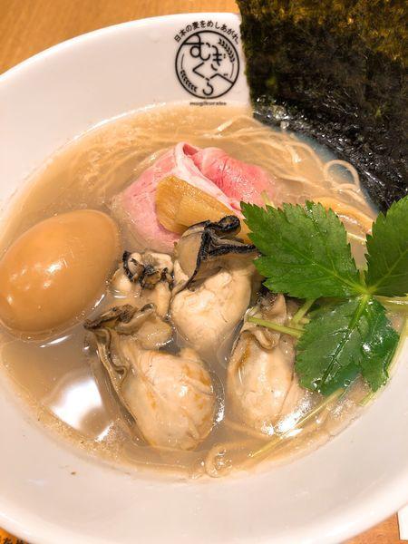 「【寿製麺 よしかわ】牡蠣そば ¥900+味玉 ¥100」@むぎくらべの写真