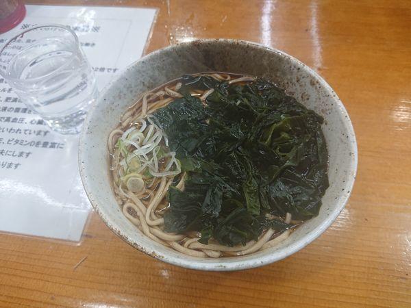 「わかめ蕎麦 360円」@二葉の写真