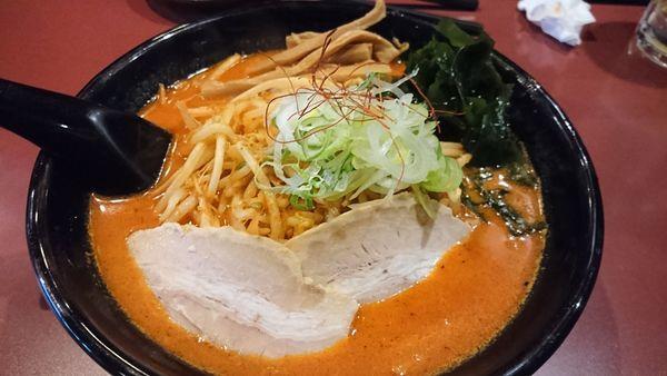 「鉄火麺 キムチ」@北海道らーめん ひむろ 亀戸店の写真