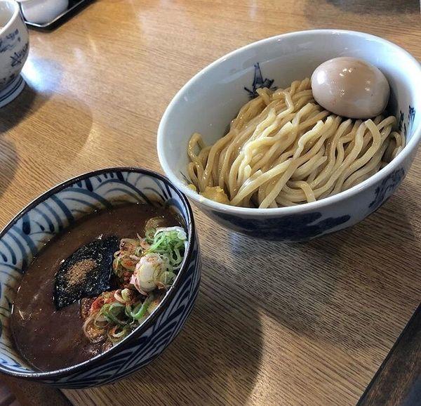 「特製濃厚魚介豚鶏つけ麺」@つけ麺 ジンベエの写真