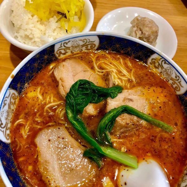 「太肉担々麺」@支那麺 はしご 赤坂店の写真