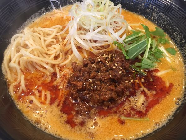 「白胡麻担々麺(850円)+半ライス(50円)」@四川担々麺いぶし銀の写真