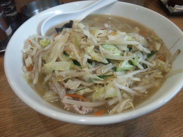「タンメン 半炒飯 1000円 野菜増し 無料」@中華 味一の写真