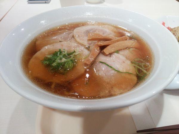 「チャーシュー麺 ミニチャーハン」@ポッポ 大森店の写真