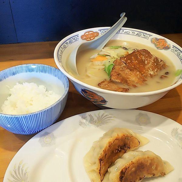 「ランチセットA(特製ちゃんぽん・半ライス・餃子2個)」@すぱいすの写真
