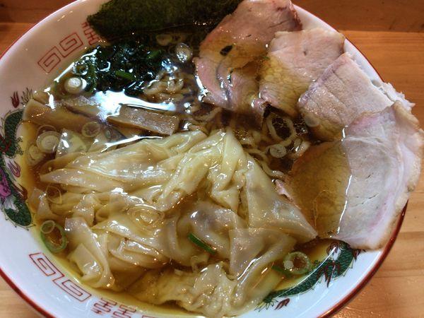 「ワンタンメン900円」@白河ラーメン 麺や鶏正の写真