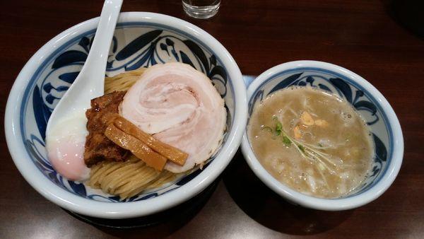 「つけ麺(トロコリ肉のせ)¥900-」@らーめんつけ麺 吉田商店 本店の写真