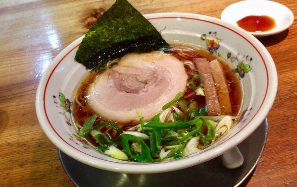「地鶏出汁の中華そば & 餃子5個」@中華そば 一楽の写真