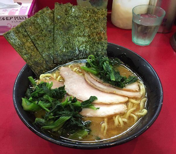 「チャーシューメン並(麺固め油多め)+青菜」@杉田家 千葉店の写真