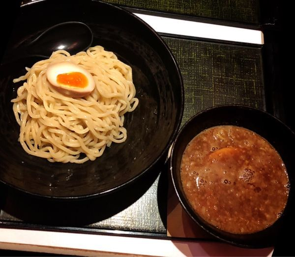 「魚介豚骨つけ麺」@竹虎 沖縄松山店の写真