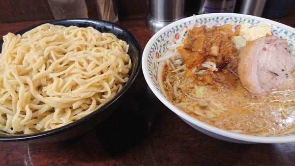 「つけ麺  小  野菜マシニンニクアブラ少しマシ」@ラーメン二郎 めじろ台店の写真