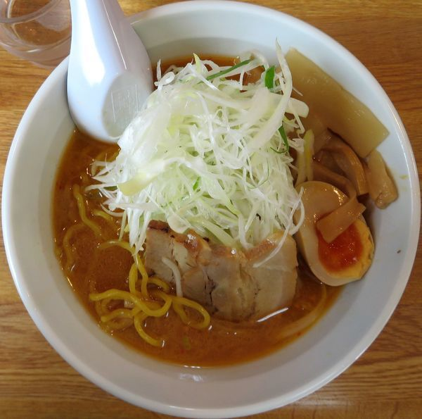 「味噌+葱(950円)」@北海道らーめん さつほろの写真